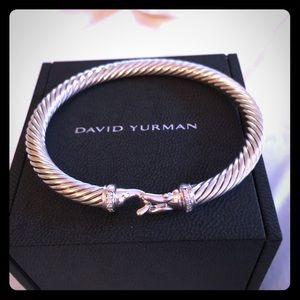 David Yurman 5mm Diamond Buckle Cable Bracelet